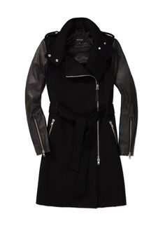 Too cool! Love this leather winter coat.