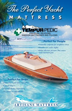Brochures and past Advertisements Custom Mattress, Website Home Page, Yacht World, Neck And Back Pain, Brochure Cover, Magazine Ads, Mold And Mildew, Advertising Campaign, Brochures
