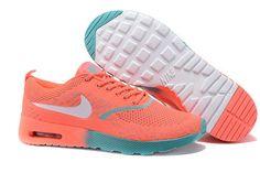 2015 Nikes Air Max Thea Flyknit orange green women running shoes