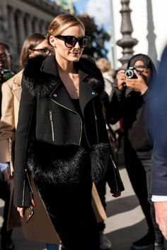 Olivia Palermo is seen after the Elie Saab show during Paris Fashion Week Womenswear SS18 on September 30 2017 in Paris France