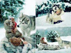 Husky love.