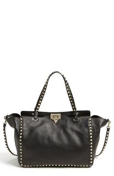 Valentino 'Rockstud - Medium' Double Handle Leather Tote available at #Nordstrom