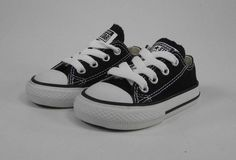 92f9b0619d05 Converse All Star Infants Toddlers Babies Girls Boys Black Canvas Shoes