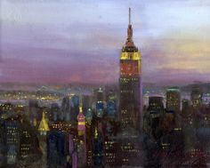 Empire State Building, New York City 8x10 Giclée Print on Canvas HALL GROAT II