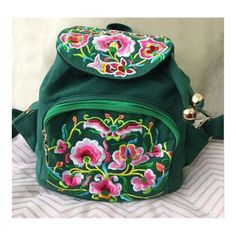 New Yunnan Fashionable Embroidery Bag Stylish Featured Shoulders Bag Fashionable Woman's Bag Bulk 93012 green