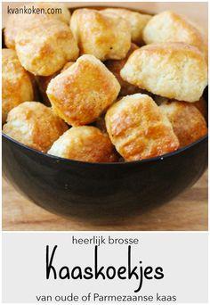 Brosse kaaskoekjes van oude kaas – De K van Koken - lekker op de borreltafel.