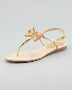 trendy bow thong sandal by kate spade new york at Neiman Marcus.