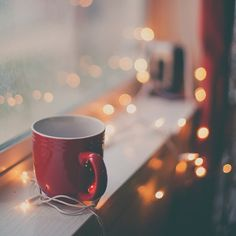 10 Quick Fixes for a Bad Day  (Photo: Mug on a Windowsill with Christmas Lights)