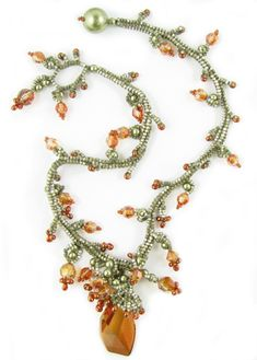 *P Ochre Necklace by Melissa Grakowsky