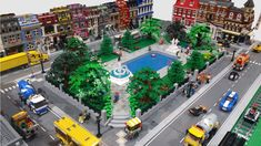 """This is my first time posting in the town forum. I just wanted to share a MOC I built for our local Lego show """"BrickExpo"""" in late July Building Layout, Brick Building, Lego Building, Lego Ville, City Layout, Lego Display, Lego Pictures, Lego Activities, Lego Modular"""