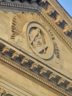 The Facade of the Freemasons Hall Molsworth Street Dublin