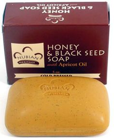 Nubian Heritage Honey and Black Seed Soap.  Great for balancing out combination skin and reduce break outs.