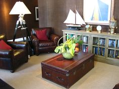"""Seating area in Latitudes restaurant in Sunset Key - perfect """"inspiration"""" for a nautical style room"""