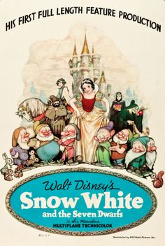 """Snow White and the Seven Dwarfs"" TBT: See All 53 Walt Disney Animation Movie Posters Posters Disney Vintage, Retro Disney, Disney Movie Posters, Vintage Movies, Disney Love, Disney Magic, Cartoon Posters, Poster Vintage, Vintage Cartoon"