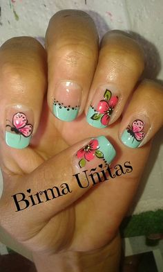 Super nails art for kids flower ideas Nail Art For Kids, New Nail Art, Cute Nail Art, Easy Nail Art, Acrylic Nail Designs, Nail Art Designs, Vacation Nails, Finger, Super Nails