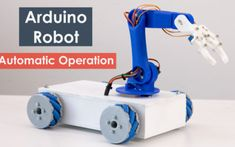 Arduino Robot Arm and Mecanum Wheels Platform Automatic Operation Project - To do with kids - Arduino Robot Arm, Arduino Wireless, Arduino Cnc, Arduino Programming, Diy Electronics, Electronics Projects, Arduino Radar, Cool Arduino Projects, Mecanum Wheel