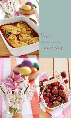 gorgonzola Eggs in Tomato Sauce