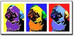 pug pop art dogs!!!
