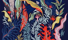 Vesuvius Jungle is a Fine Art archival print on Hahnemühle matte photopaper. This means theres a 300 year guarantee that the ink and paper wont Motif Jungle, Jungle Pattern, Nature Illustration, Photo Illustration, Painting Workshop, Motif Floral, Illustrators On Instagram, Illustrations And Posters, Fine Art