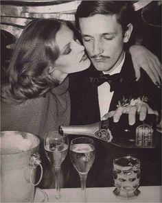 Photo: Chris von Wangenheim   Vogue December 1973. The man is the late Jacques de Bascher.
