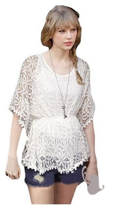Taylor Swift Fashion: Lace Top only $14.32! See Item ---> http://www.discountqueens.com/taylor-swift-fashion-lace-top-only-14-32/
