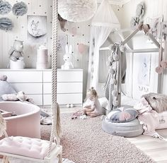 Emma's Magical and Feminine Toddler Room - kinder und Jugendzimmer - Baby Room Design, Girl Bedroom Designs, Baby Room Decor, Bedroom Ideas, Little Girl Bedrooms, Girls Bedroom, Girl Toddler Bedroom, Childrens Bedrooms Girls, Pink Toddler Rooms