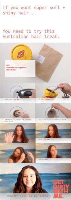 HAIR TREAT: Chocolate   Vegemite Hair Mask