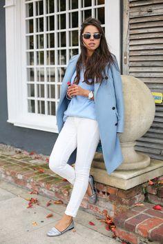 Periwinkle-paul-joe-coat-white-james-jeans-pants