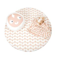 Roomblush Mini Hearts Pine Needle Speelmat 100 cm - Roze