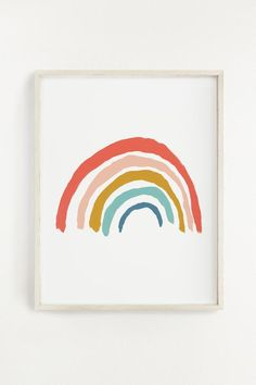 Rainbow Art Print – Illustrated art print created from an original acrylic painting by Clementine Kids * Made in the USA * 11 x 14 inches * Printed on Mohawk Smooth * Sealed in a cello sleeve with a protective cardboard backing. Frame is not included. Hair Rainbow, Rainbow Room, Rainbow Kids Rooms, Rainbow Clothes, Rainbow Star, Kids Room Wall Art, Nursery Wall Art, Art Prints Quotes, Wall Art Prints