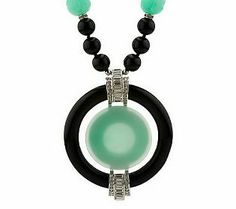 "Kenneth Jay Lanes Deco Inspired Bead & Disc 34 Necklace Reissue. Marked ""KJL China"""