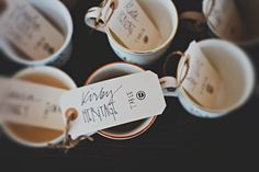 mugs as favors/seating cards