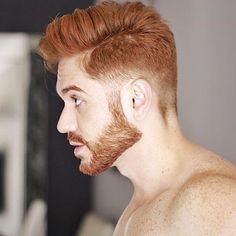 Cute Hairstyles For Red Highlights Red Hair Men Cool Hot Ginger Men, Ginger Beard, Ginger Hair, Mens Hairstyles Fade, Cool Hairstyles For Men, Haircuts For Men, Black Hairstyles, Low Taper Fade Haircut, Mens Taper Fade