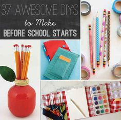 School is coming and you want to make a good first impression for class?? Here's 37 Awesome DIYs To Make Before School Starts!