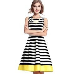 0a2c1b6014acd0 S-XXL 2015 New Spring Summer Casual Dress Stylish Women Ladies Party  Sleeveless O-