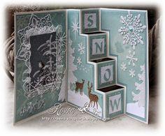 Trapjes kerstkaart (Rosina's Scrapcards)