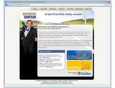 Goldberg Simpson - website. Fishman Marketing