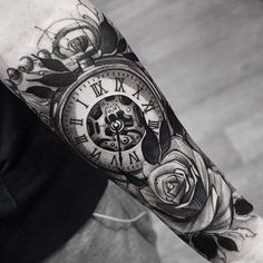 30 Most Beautiful Tattoo Designs Thanks to social media, most women come across that perfect tattoo on a daily, if not hourly basis. Forearm Tattoos, Body Art Tattoos, Sleeve Tattoos, Cool Tattoos, Tatoos, Future Tattoos, Tattoos For Guys, Tattoos For Women, Clock Tattoo Design