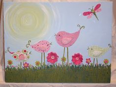 Childrens Acrylic Wall Painting