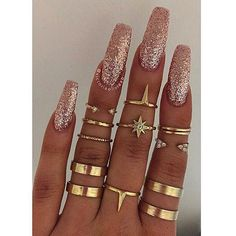 In seek out some nail designs and ideas for your nails? Listed here is our list of 26 must-try coffin acrylic nails for trendy women. Gorgeous Nails, Love Nails, How To Do Nails, Pretty Nails, Fun Nails, French Nails Glitter, Silver Glitter Nails, Glitter Bomb, Sparkle Nails
