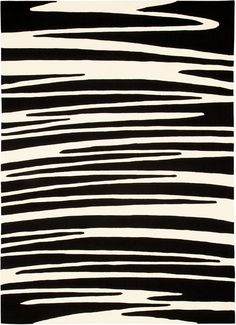 modernrugs.com Contemporary Optical Art Black White Modern Rug