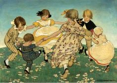 Round The Ring Of Roses Jessie Wilcox Smith