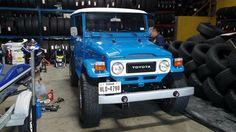 Beautiful Blue FJ40 Land Cruiser Icon Toyota Bezel