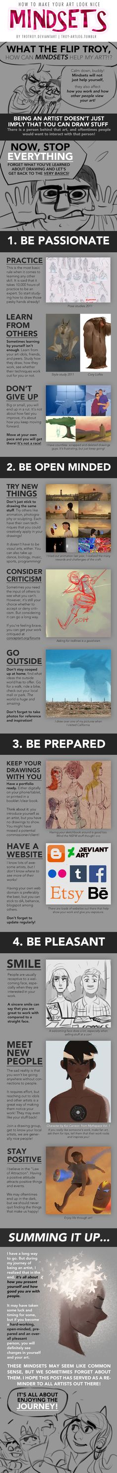 HOW TO MAKE YOUR ART LOOK NICE: Mindsets by trisketched on DeviantArt