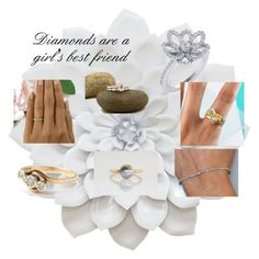 """Diamonds area girl's best friend !"" by patricia-peters-1 ❤ liked on Polyvore"