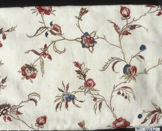 Fabric used in a caraco, c1770-80, found on Museon Arlaten, inv#2002.0.62.