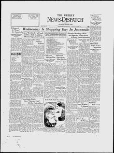 WESTMORELAND COUNTY - JEANNETTE - 1931. The Weekly News-Dispatch - Google News Archive Search