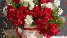 GIFs Καλημέρα -Καλή Εβδομάδα! - eikones top Christmas Wreaths, Floral Wreath, Holiday Decor, Flowers, Floral Crown, Royal Icing Flowers, Flower, Florals, Flower Crowns