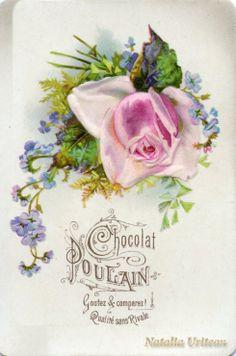 Chocolat Poulain label - Rose