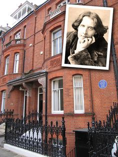 railing;--House of Oscar Wilde at Tite Street, Chelsea, London, by pablo.sanchez, via Flickr, complete with Blue Plaque